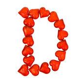 Alphabet Valentine's Day. Letter D. — Stock fotografie