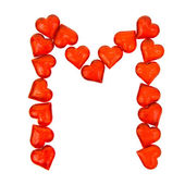 Alphabet Valentine's Day. Letter M. — Stock fotografie