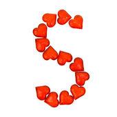 Dia dos namorados-alfabeto. letra s. — Fotografia Stock