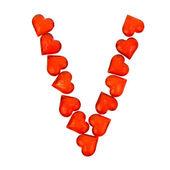 Alphabet Valentine's Day. Letter V. — Stock fotografie