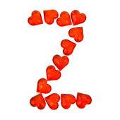 Alfabetet alla hjärtans dag. bokstaven z. — Stockfoto