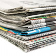 newspaper stack — Stock Photo