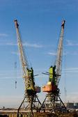 Harbour cranes — Stock Photo