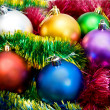 Multi-colored Christmas tree balls — Foto de Stock