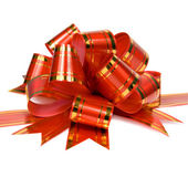 Red bow for ornamentation — Stock Photo