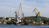 Harbour cranes. — Stock Photo