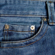 Pockets on jeans - Stock Photo