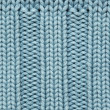 Blue knitted fabric texture — Stock Photo
