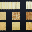 Multicolored furniture fabric samples — Stock Photo