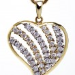 Golden heart shaped necklace — Stock Photo #1789298