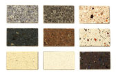 Countertop samples over white — Stock Photo