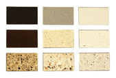 Stone samples for kitchen countertops — Stock Photo