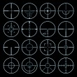 Stock Vector: Crosshairs set