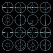 Royalty-Free Stock Imagem Vetorial: Crosshairs set