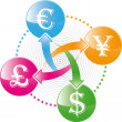 Money exchange icon - Stock Vector