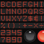 Dot-matrix font — Stock Vector #1637843