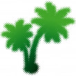 Stock Vector: Palm-tree