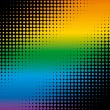 Royalty-Free Stock Vector Image: Rainbow dots