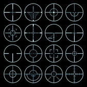 Crosshairs set — Stock Vector