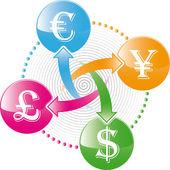 Money exchange icon — Stock Vector