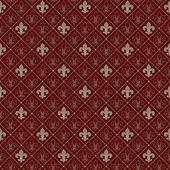 Fleur de lis naadloze patroon — Stockvector