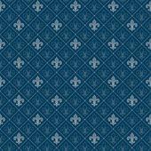 Fleur de lis seamless pattern — Stock Vector