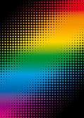 Rainbow dots — Stock Vector