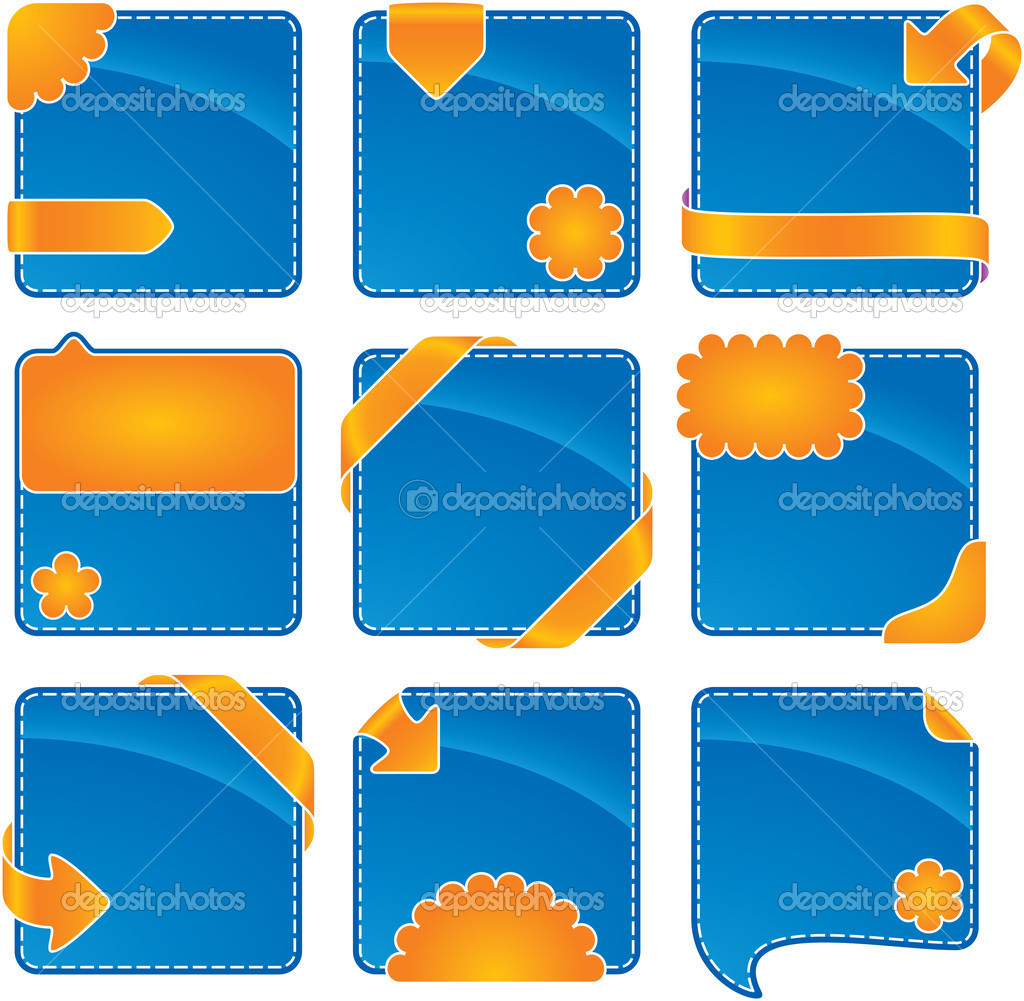 Orange-blue web banner set  — Stock Photo #1689548