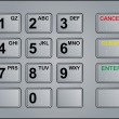 Royalty-Free Stock Vector Image: Atm keypad