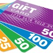 tarjetas regalo — Vector de stock