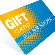 Gift card — Vector de stock