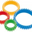 Royalty-Free Stock Vector Image: Colorful gears