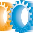Colorful gears set — Stock Vector