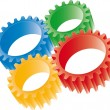 Stock Vector: Colorful gears