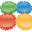 Stock Vector: Colorful gears set