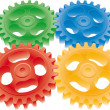 Colorful gears — Stock Vector