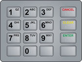 Atm keypad — Stock Vector