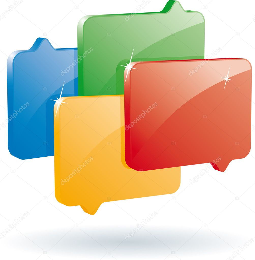 Blog or chat symbol (vector format) — Stock Vector #1689759