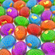 Stock Photo: Easter eggs background