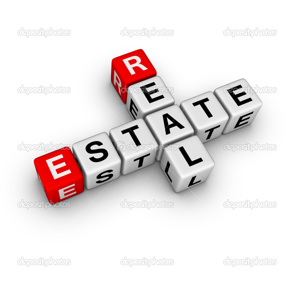 Real estate symbol (from crossword series) — Foto Stock #2514608