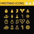 Schristmas icons — Stock Vector