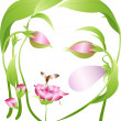 Royalty-Free Stock Vectorielle: Vector beautiful  flower woman