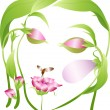 Royalty-Free Stock Векторное изображение: Vector beautiful  flower woman
