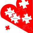 Royalty-Free Stock Vector Image: Love puzzle poster, logo