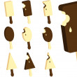 Royalty-Free Stock Vectorafbeeldingen: Chocolate and dairy ice-cream