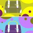 Vector fashion woman glamour bag — Stock Vector