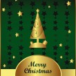 Royalty-Free Stock Vector Image: Vector Gold and green christmas