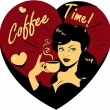 Vector de stock : Coffee Lover vector poster
