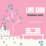 Wedding card, love nature — Stock Vector