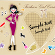 Royalty-Free Stock Vectorielle: Fashion woman fake paper